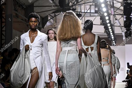 Models present creations of  the Spring/Summer 2018 Ready to Wear collection by Italian designer Marianna Rosati for Drome fashion house during the Paris Fashion Week, in Paris, France, 30 September 2017. The presentation of the Women's collections runs from 25 September to 03 October.