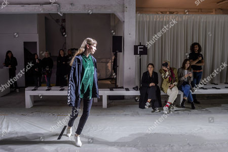 A model presents a creation of  the Spring/Summer 2018 Ready to Wear collection by Italian designer Marianna Rosati for Drome fashion house during the Paris Fashion Week, in Paris, France, 30 September 2017. The presentation of the Women's collections runs from 25 September to 03 October.