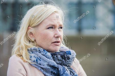 Infrastructure Minister Anna Johansson (S) Manifestation against the nazi demonstrations in Gothenburg, Sweden