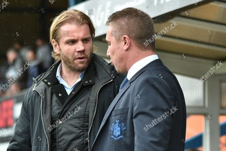 Bury Manager, Lee Clark and Milton Keynes Dons Manager, Robbie Neilson  during the EFL Sky Bet League 1 match between Bury and Milton Keynes Dons at the JD Stadium, Bury