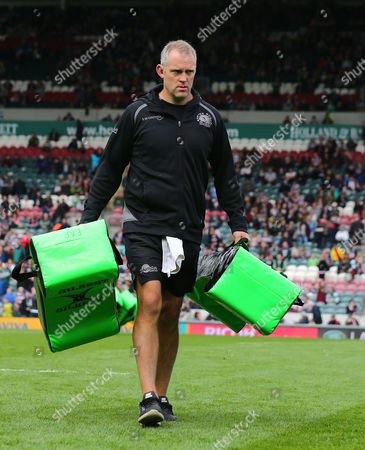 Exeter Chiefs Assistant Coach, Robin Hunter during the Aviva Premiership Match between Leicester Tigers and Exeter Chiefs at Welford Road, Leicester - 30 Sept 2017 (