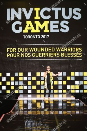 Stock Image of Kathleen Wynne speaks onstage during the closing ceremony of the Invictus Games 2017 at Air Canada Centre