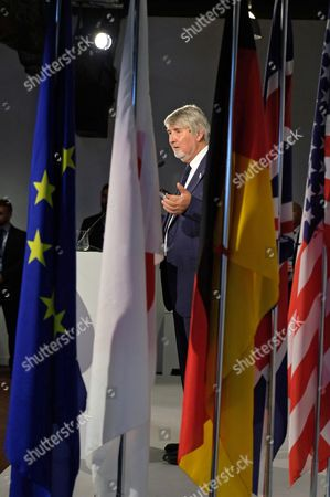 Italian Labour Minister, Giuliano Poletti, talks during a press conference at the end of the G7 Labour and Employment Ministerial Meeting in Venaria, near Turin, Italy, 30 September 2017.  The G7 Ministers of Labor meeting takes place on 29 and 30 September at the Venaria Reale Palace in the framework of a week dedicated to the challenges of the so-called 'Fourth Industrial Revolution'.