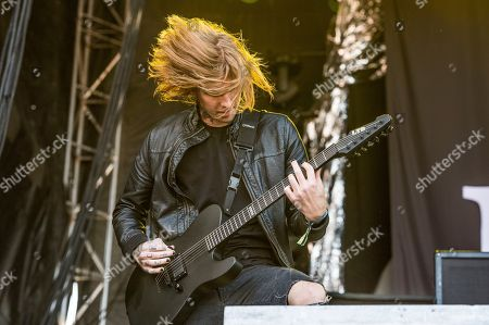 Alan Ashby of Of Mice & Men performs at the Louder Than Life Music Festival at Champions Park, in Louisville, Ky