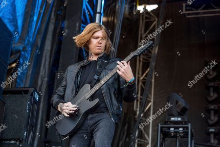 Stock Picture of Alan Ashby of Of Mice & Men performs at the Louder Than Life Music Festival at Champions Park, in Louisville, Ky