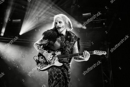 John 5 performs with Rob Zombie at the Louder Than Life Music Festival at Champions Park, in Louisville, Ky