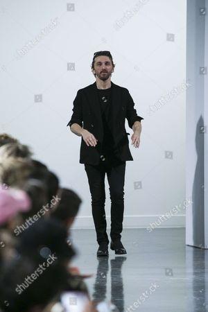 David Koma on the catwalk