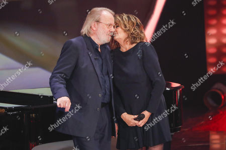 Stock Picture of Benny Andersson and Wencke Myhre