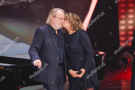 Stock Image of Benny Andersson and Wencke Myhre