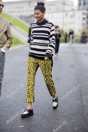 Giovanna Battaglia at Haider Ackermann Street Style