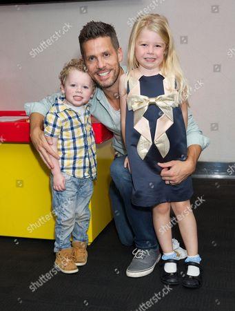 Hugh Hanley with son Aaron and daughter Faith