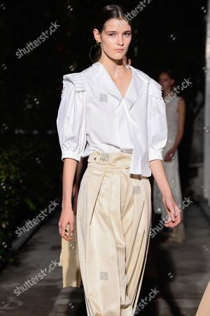 Editorial picture of Pascal Millet show, Runway, Spring Summer 2018, Paris Fashion Week, France - 28 Sep 2017