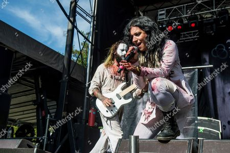 Cristina Scabbia of Lacuna Coil performs at the Louder Than Life Music Festival at Champions Park, in Louisville, Ky