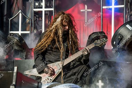 Randy Weitzel of In This Moment performs at the Louder Than Life Music Festival at Champions Park, in Louisville, Ky