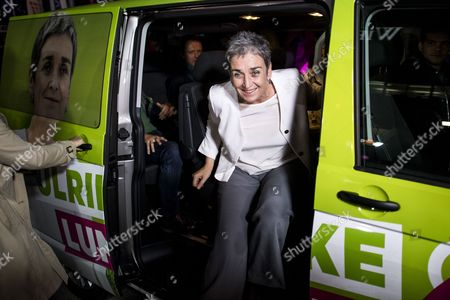 Top candidate of the Austrian Green Party Ulrike Lunacek arrives for a television debate in Vienna, Austria, 01 October 2017. Austrian federal elections will take place on 15 October 2017.