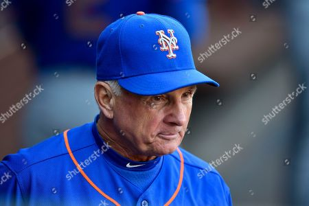 New York Mets manager Terry Collins stands in the dugout prior to a baseball game against the Philadelphia Phillies, in Philadelphia. The Phillies won 11-0