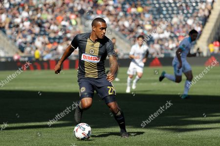 Philadelphia Union's Jay Simpson during an MLS soccer match against the Seattle Sounders, in Chester, Pa. Philadelphia won 2-0