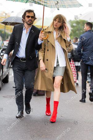 Stock Photo of Olivier Zahm and Amanda Wall