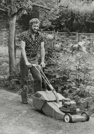 Martin Chivers Tottenham Hotspur (spurs) F.c. Footballer In His Garden Mowing The Lawn. Box 747 411041729 A.jpg.