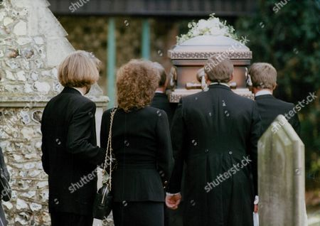Funeral Of Four-year-old Conor Clapton Son Of Pop Star Eric Clapton And Model Lory Del Santo. Clapton And Del Santo Following Their Son's Coffin Into The Cemetery. Box 748 1012041770 A.jpg.