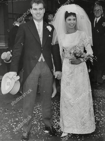 Editorial photo of Wedding Of Cricketer Ted Clark And Actress Zorenah Osborne. Box 748 312041736 A.jpg.