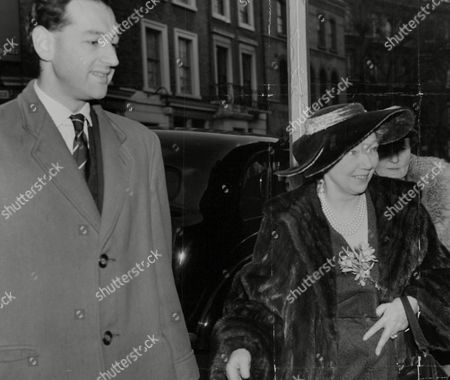 Adeline Lady Clark Attending Wedding Of Her Daughter To Ian Maxwell-scott With Unidentified Man Susan's Father Sir Andrew Clark Disapproved Of The Marriage And Did Not Attend. Box 748 812041722 A.jpg.