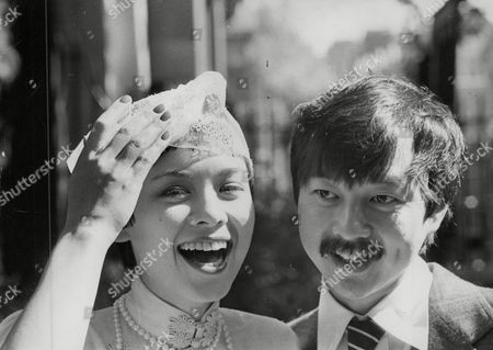 Editorial photo of Restaurateur Michael Chow With His Bride Tina Lutz After Their Wedding At Chelsea Register Office. Box 749 81304174 A.jpg.