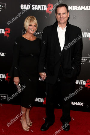 """Stock Photo of Dina Spybey, left, and Mark Waters, right, attend the premiere of """"Bad Santa 2"""" at AMC Loews Lincoln Square, in New York"""