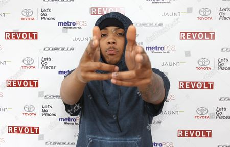 "Rapper Lil Herb is seen at the ""REVOLT Block Party presented by Toyota #MakeYourMark"" during SXSW Music on in Austin, Texas"