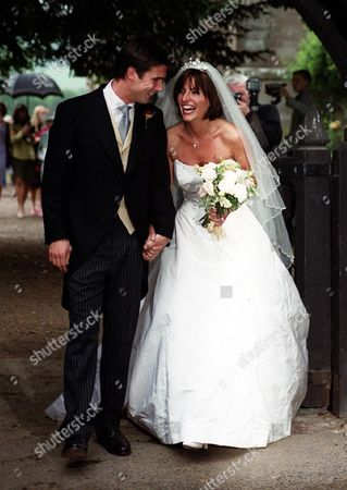 She Has Tackled All Manner Of Daredevil Stunts But Television Presenter Davina Mccall 32 Shook With Fear Yesterday As She Arrived For Her Wedding To 30-year-old Actor Matthew Robertson. The Wedding In Eastnor Near Ledbury Hereford And Worcester Was The Second For The Don't Try This At Home Host.