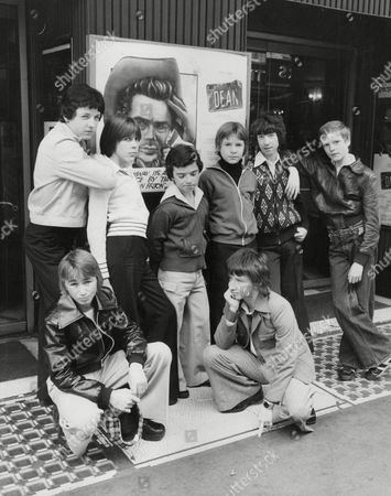 Youngsters Who Are Auditioning For The Part Of A Young James Dean In The New Musical 'dean'. (back L-r) Derek Farrington Kevin Cockran Kevin Hudson Michael Clements Peter Hale Christopher Huxtable. (front L-r) Keith Jayne Graham Kennedy-smith. Box 752 32504179 A.jpg.
