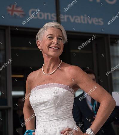 Katie Hopkins wearing a wedding dress