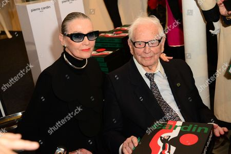 Stock Picture of Maryse Gaspard and Pierre Cardin