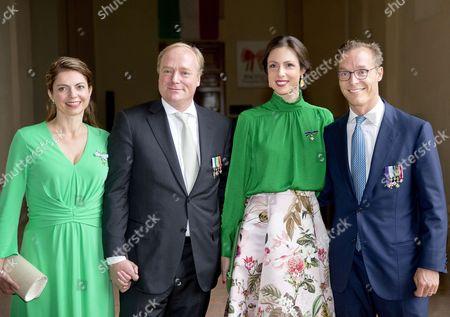 Prince Carlos of Bourbon-Parma and Princess Annemarie and Prince Jaime of Bourbon-Parma, Count of Bardi and Princess Viktoria de Bourbon de Parma
