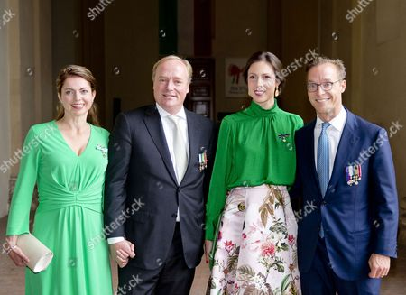 Prince Carlos of Bourbon-Parma and Princess Annemarie and Prince Jaime of Bourbon-Parma, Count of Bardi and Princess Viktoria de Bourbon de Parma