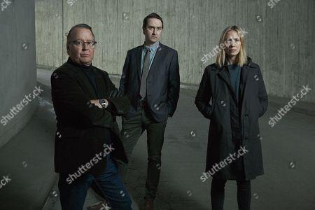 Moa Gammel as Eva, Goran Ragnerstam as Wass and Richard Forsgren as Tom.
