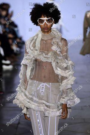 Editorial photo of Anne Sofie Madsen show, Runway, Spring Summer 2018, Paris Fashion Week, France - 01 Oct 2017