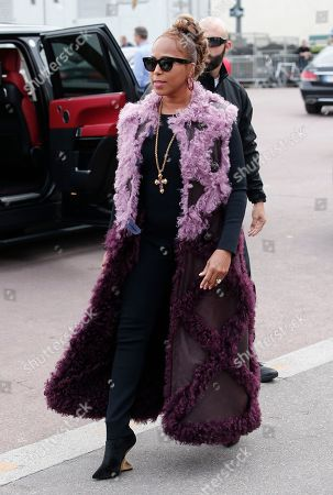 Marjorie Harvey arrives at Hermes Spring-Summer 2018 ready-to-wear fashion collection in Paris, Monday, Oct.2, 2017
