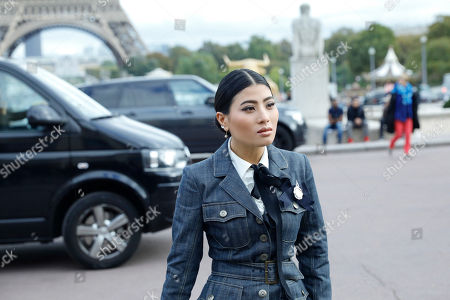 Princess Siriwanwaree Nareerat Of Thailand arrives at Hermes Spring-Summer 2018 ready-to-wear fashion collection in Paris, Monday, Oct.2, 2017