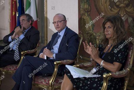 Juan Rosell, Vincenzo Boccia and Emma Marcegaglia