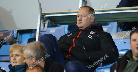Richard Hill, England team manager watches on during the Aviva Premiership A-League match between Exeter Braves and London Irish at Sandy Park on October 2nd 2017 , Exeter, Devon (