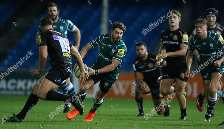 Ben Ransom of London Irish on the break during the Aviva Premiership A-League match between Exeter Braves and London Irish at Sandy Park on October 2nd 2017 , Exeter, Devon (