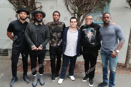 Stock Image of Jussie Smollett, Will.i.am, Chadwick Boseman, Josh Gad, Reginald Hudlin - Producer/Director and Sterling K. Brown