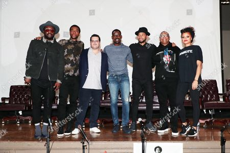 Stock Picture of Will.i.am, Chadwick Boseman, Josh Gad, Sterling K. Brown, Jussie Smollett, Reginald Hudlin - Producer/Director and Andra Day