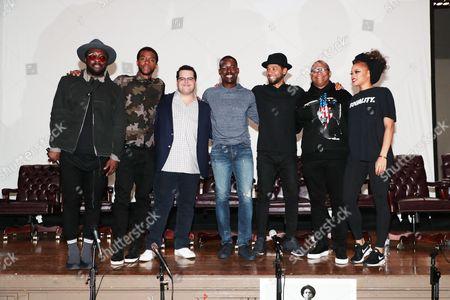 Will.i.am, Chadwick Boseman, Josh Gad, Sterling K. Brown, Jussie Smollett, Reginald Hudlin - Producer/Director and Andra Day