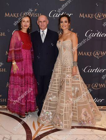 Almine Ruiz-Picasso, Bernard Ruiz Picasso and Batia Ofer