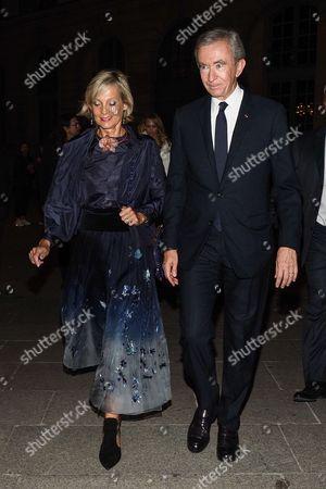 Bernard Arnault and his wife Helene Mercier-Arnault