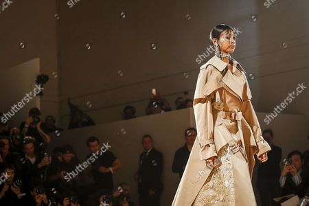 Naomi Chin Wing on the catwalk