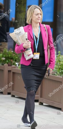 BBC POLITICAL EDITOR Laura Kuenssberg seen at the second day of the Conservative Party Conference.