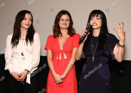 Stock Picture of Francesca Fisher-Eastwood, Leah McKendrick, Natalia Leite (director)